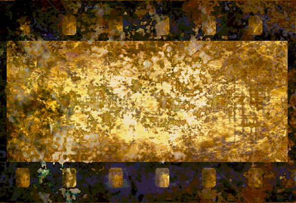 Filmstrip film frame vintage grunge textuur filmstrip Stockfoto © Artida