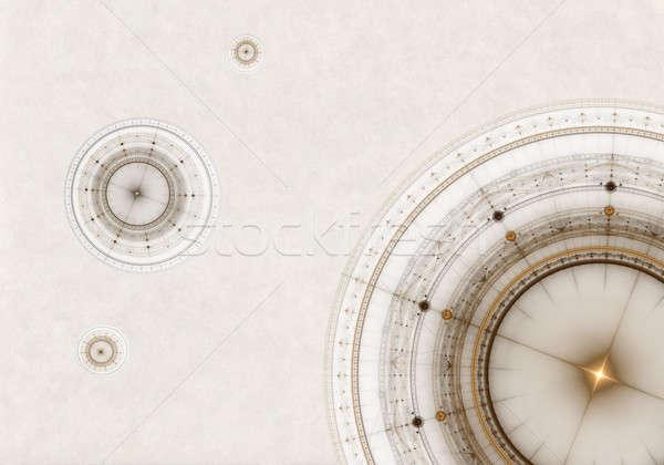 古い羊皮紙 コンパス 抽象的な 実例 古代 ストックフォト © Artida