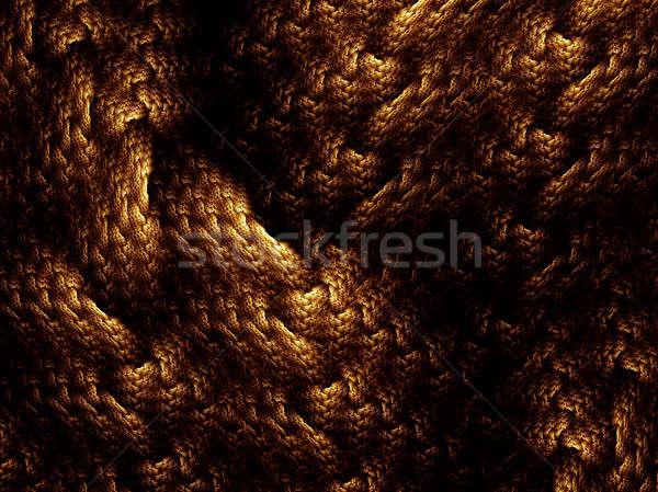 golden woven background Stock photo © Artida
