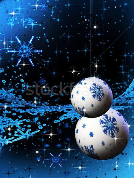аннотация синий праздник украшения Рождества Сток-фото © Artida