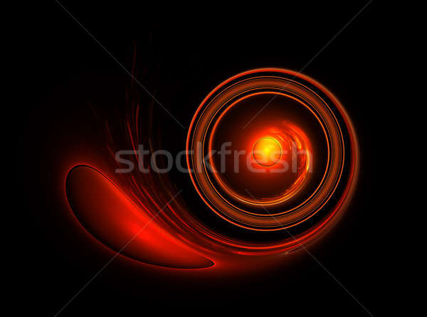 fiery circular motion on black background Stock photo © Artida