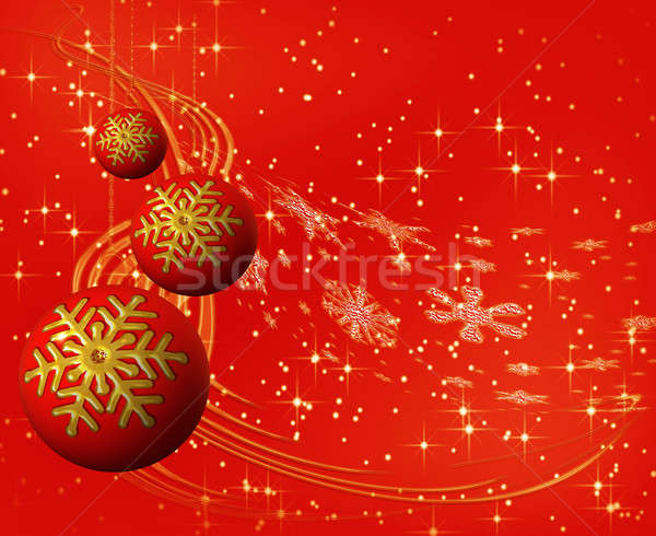 красный Рождества снежинка Сток-фото © Artida