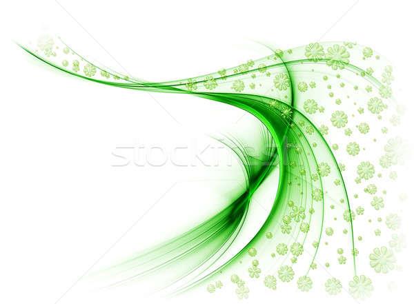 зеленый вуаль цветы ветер белый весны Сток-фото © Artida