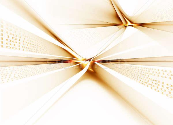 バイナリコード データ 通信 インターネット ビジネス ストックフォト © Artida