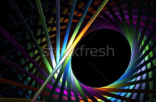 Arco-íris quadro abstrato ilustração brilhante Foto stock © Artida