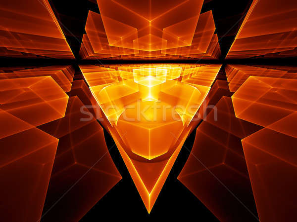 geometrical perspective Stock photo © Artida