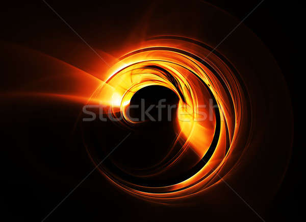 fiery red circle in speedy motion, rotating Stock photo © Artida