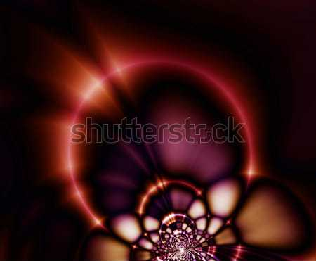 Ring of Fire, stained glass illustration, Stock photo © Artida