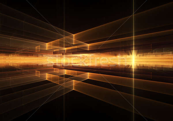 Fiery Geometrical Horizon with Rays of Light  Stock photo © Artida