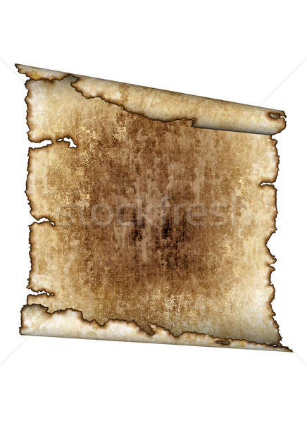 old rough antique parchment paper scroll texture background iso