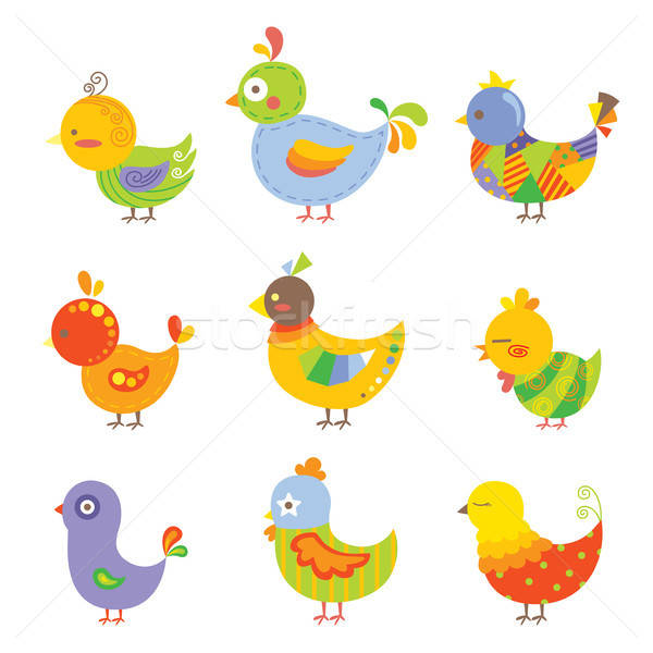Colorful chickens Stock photo © artisticco