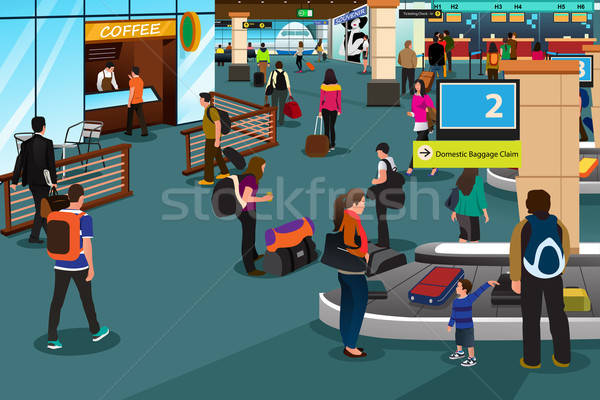 People Inside Airport Scene Stock photo © artisticco