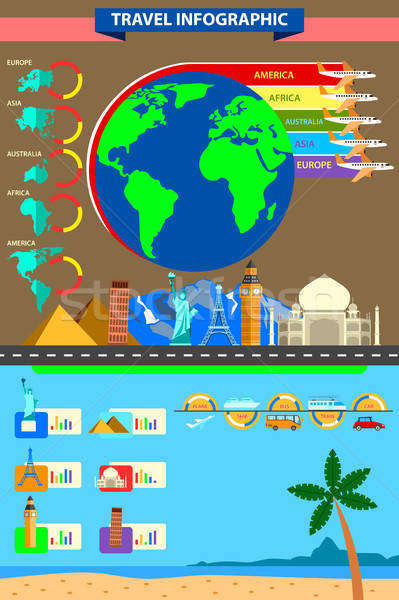 World Travel Infographic Stock photo © artisticco