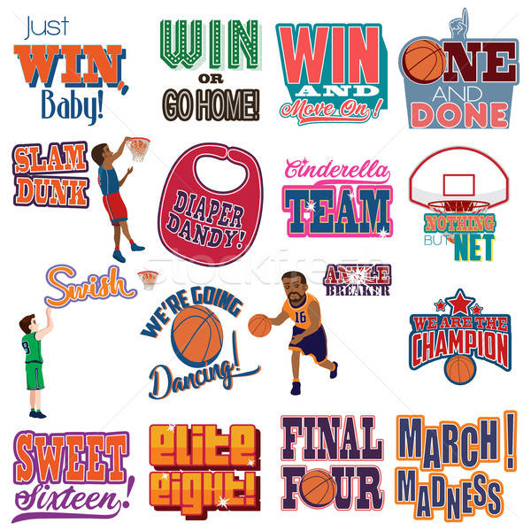 College Basketball Tournament Icons Cliparts Stock photo © artisticco