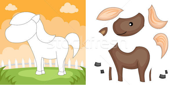 Horse puzzle Stock photo © artisticco