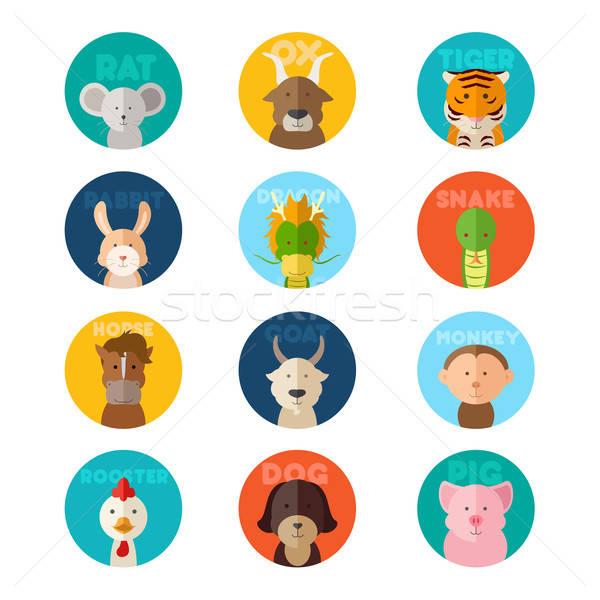 Chinese zodiac animal Stock photo © artisticco