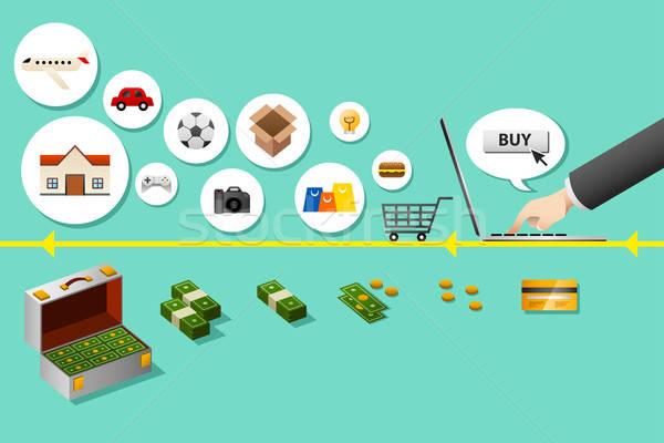 Internet shopping concept Stock photo © artisticco