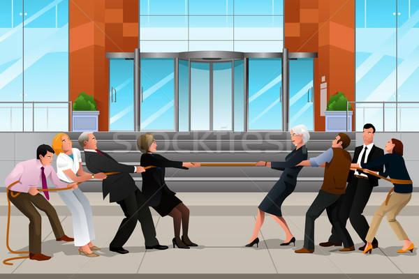 ビジネスの方々  戦争 チームワーク 女性 ビジネスマン ビジネス女性 ストックフォト © artisticco
