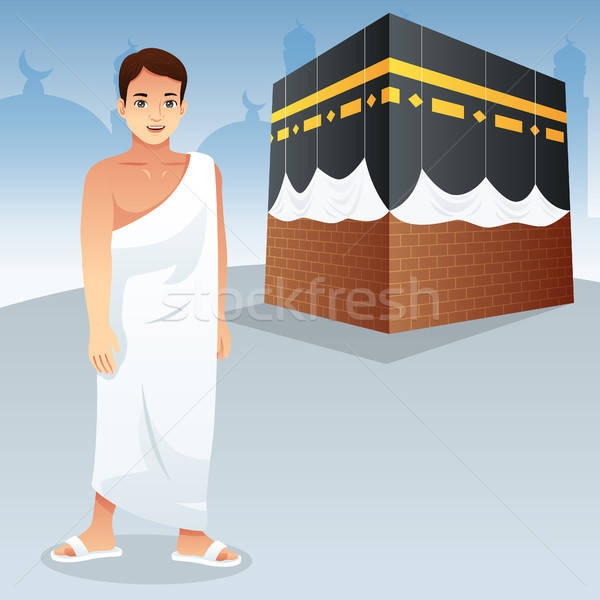 Muslim Man in Front of Kaaba Stock photo © artisticco