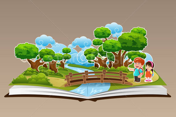 Pop Up Book with a Forest Theme Stock photo © artisticco