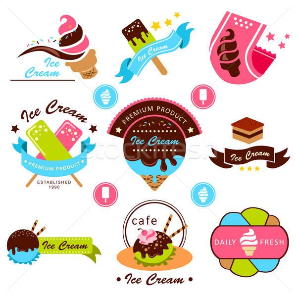 Cr me glac e tiquette dessins dessert dessin - Dessert dessin ...