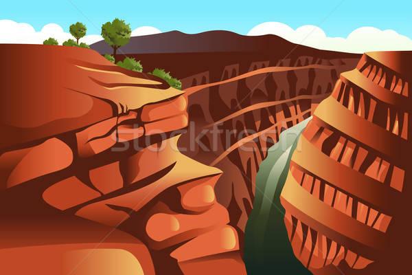 Grand Canyon natureza fundo montanha pedra papel de parede Foto stock © artisticco