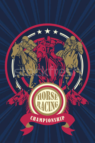 Horse Racing Championship Poster Stock photo © artisticco