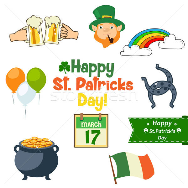 St Patrick's Day Icons Stock photo © artisticco