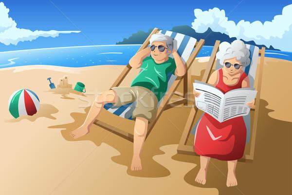 Senior couple enjoying their retirement Stock photo © artisticco