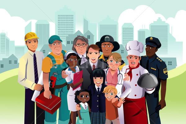 люди различный оккупация сообщество бизнеса детей Сток-фото © artisticco