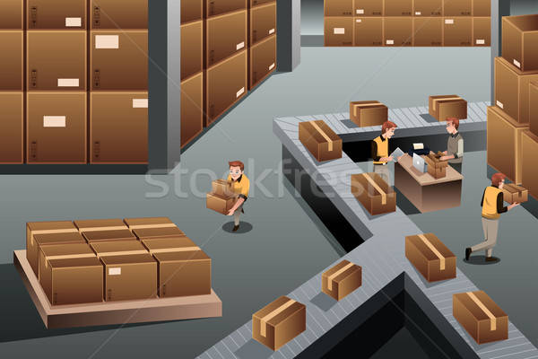 Distribution warehouse Stock photo © artisticco