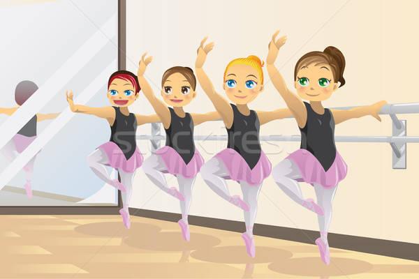 バレリーナ 女の子 かわいい バレエ ダンス ストックフォト © artisticco