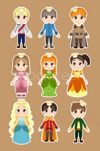 Herceg hercegnő betűk lány férfi terv Stock fotó © artisticco