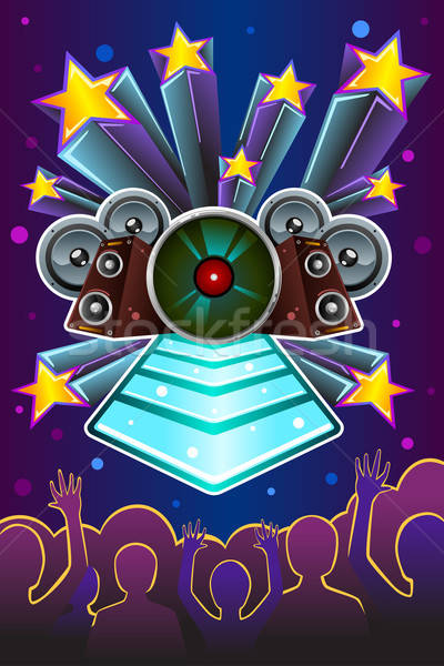 Disco night flyer Stock photo © artisticco