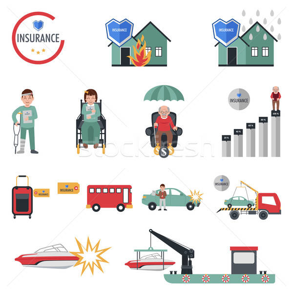 Insurance Icons Stock photo © artisticco