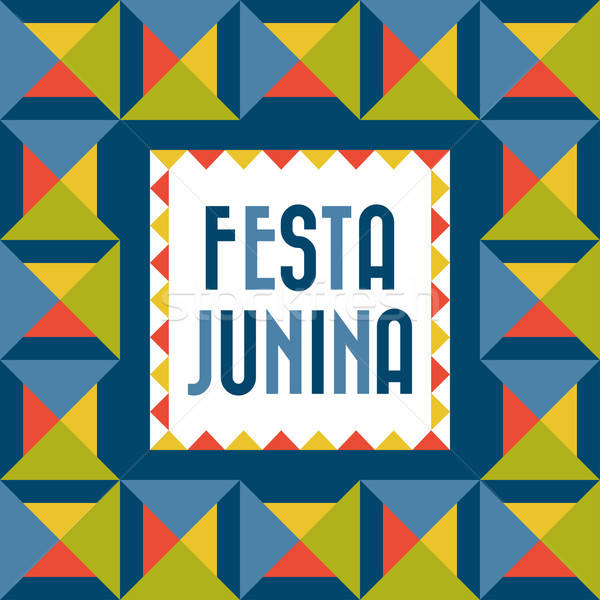 Festa Junina Poster Stock photo © artisticco