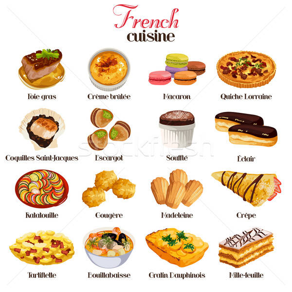French Cuisine Icons Stock photo © artisticco