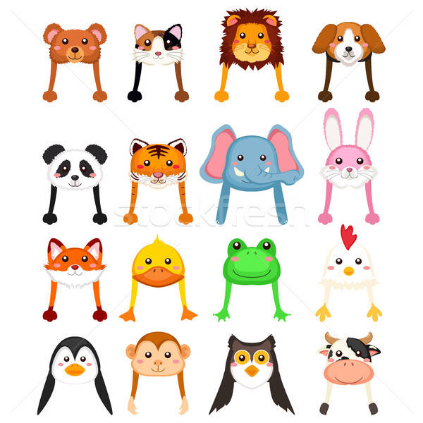 Animals Cartoon Hat  Stock photo © artisticco