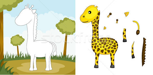 Giraffe puzzle Stock photo © artisticco
