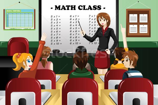 子供 勉強 数学 教室 教師 女性 ストックフォト © artisticco