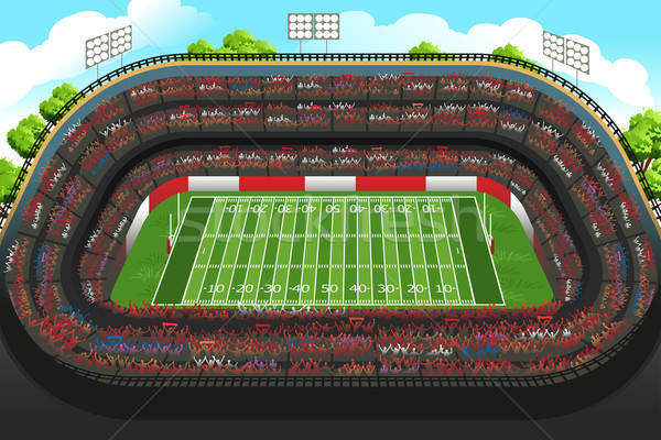 Lege amerikaanse voetbal stadion voetbal sport Stockfoto © artisticco