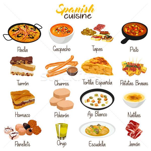 кухня иллюстрация испанский вектора Испания Сток-фото © artisticco