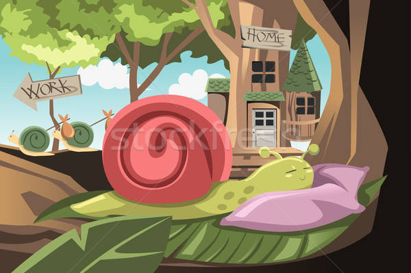 Lazy snail Stock photo © artisticco
