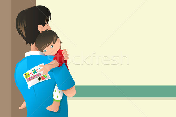 Fathers day card design Stock photo © artisticco