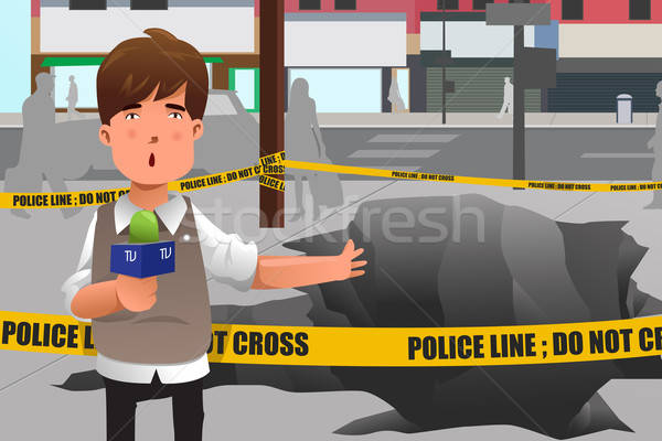 News reporter working in the city Stock photo © artisticco