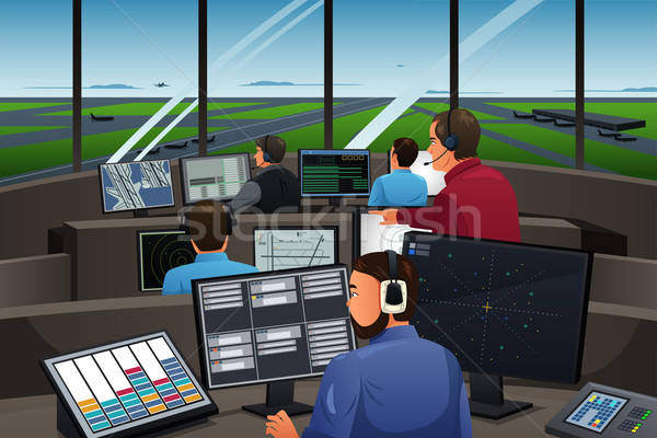 Air Traffic Controller Working in the Airport Stock photo © artisticco