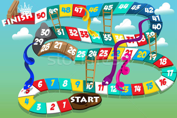 Snakes and ladders game Stock photo © artisticco