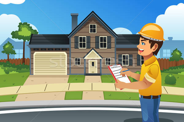 Home Inspector in Front of a House Stock photo © artisticco