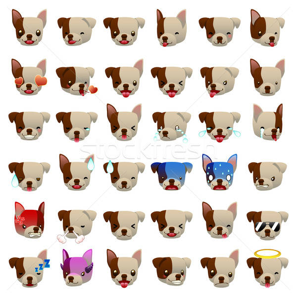Pitbulls Dog Emoji Emoticon Expression Stock photo © artisticco