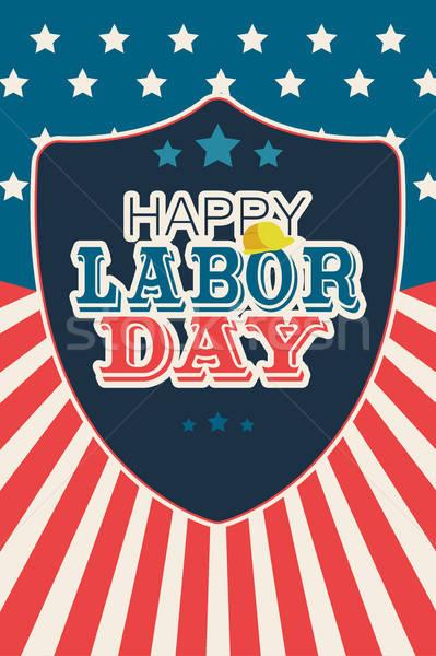 Labor Day Poster Illustration Stock photo © artisticco